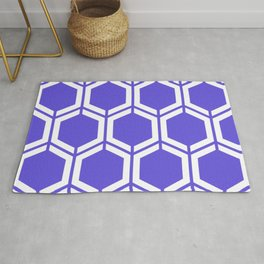 Majorelle blue - blue - Geometric Polygon Pattern Rug