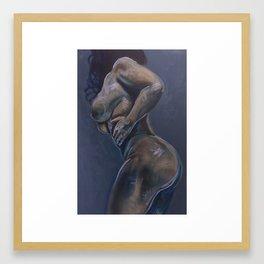 Blue Woman Framed Art Print