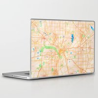 dallas Laptop & iPad Skins featuring Dallas, Texas by Emily Day