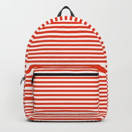 TINY STRIPE ((cherry red)) Backpack