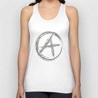 anarchy Tank Tops featuring Anarchy by Collectivo 2