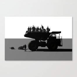 Buddha dump truck (spirituality mass production) Canvas Print