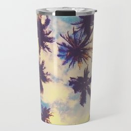 beach palm Travel Mug