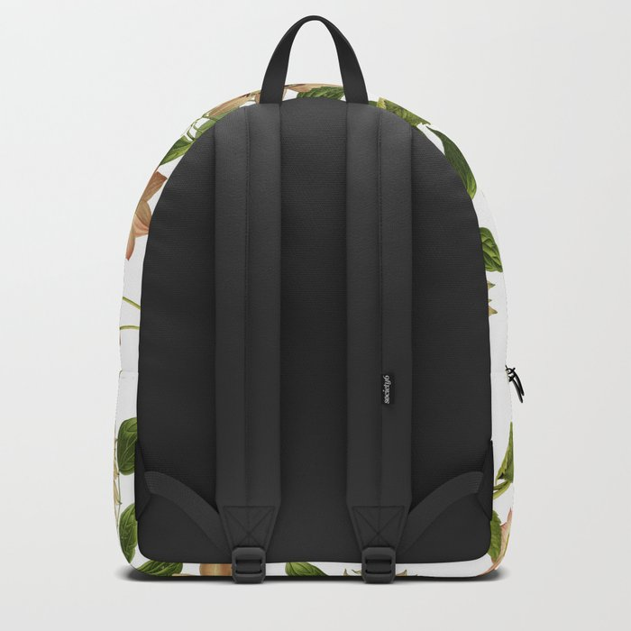 Floral retro vintage pattern pastel colored Backpack