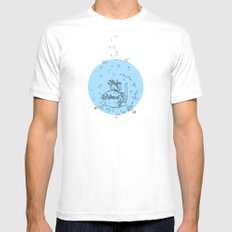 Sea. White MEDIUM Mens Fitted Tee
