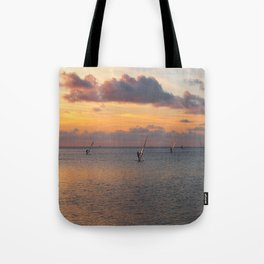 Windsurfing on the Sound Tote Bag