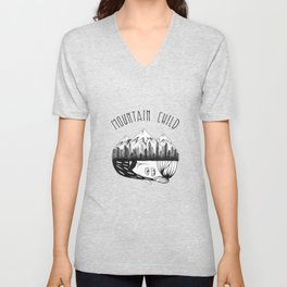 Mountain Child  Unisex V-Neck