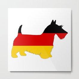 German Flag - Scottish terrier Metal Print