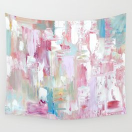 Pink Abstract Painting Wall Tapestry