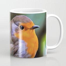 Plump Robin Perched On A Branch Coffee Mug