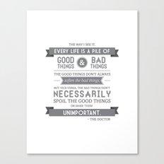 Good Things & Bad Things (gray) Canvas Print