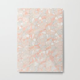 Pattern Rose Triangle Metal Print