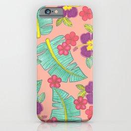 tropical hawaiian flowers iPhone Case