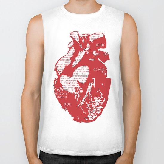 Binary heart Biker Tank