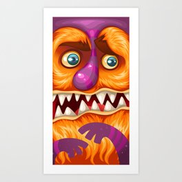 Orange Monster Art Print