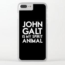 John Galt is my Spirit Animal Clear iPhone Case