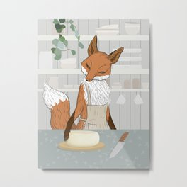 Cheese Time of Day in Fox's Kitchen Metal Print