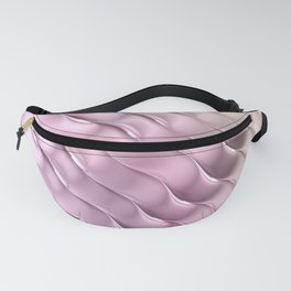 Pink Satin Ripple Fanny Pack