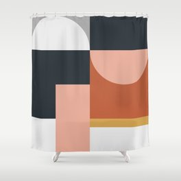 Abstract Geometric 09 Shower Curtain