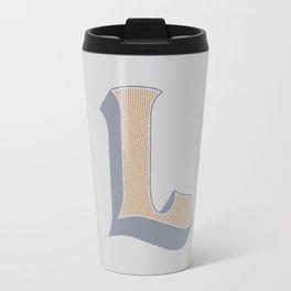 BOLD 'L' DROPCAP Travel Mug