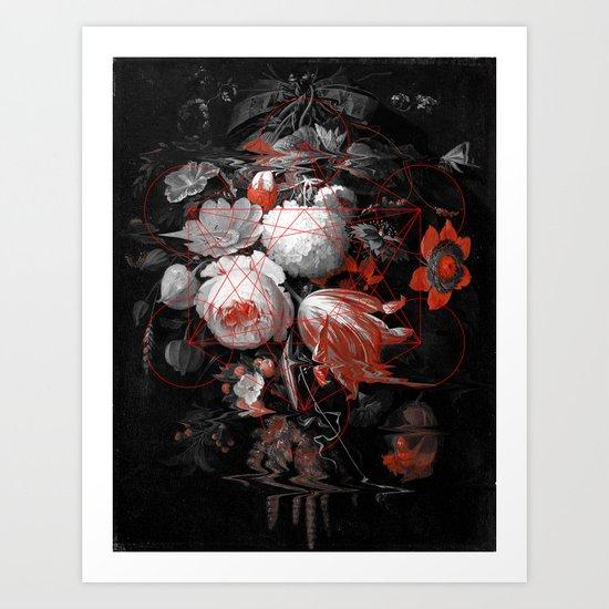 sacred flowers Art Print