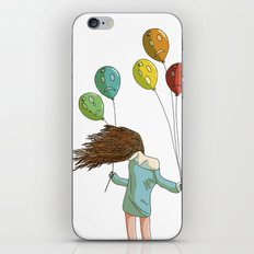 Baloons on wind iPhone & iPod Skin