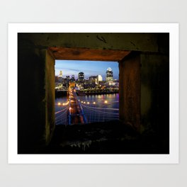 Framed Cincinnati Art Print