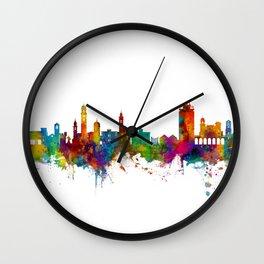 Lugano Switzerland Skyline Wall Clock