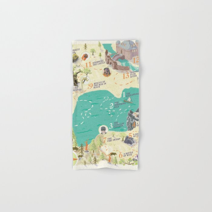 Princess Bride Discovery Map Hand & Bath Towel