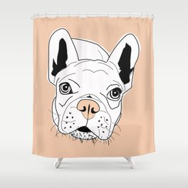 Frenchie Face Shower Curtain
