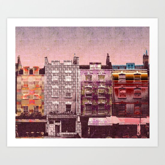 Pink Houses Art Print