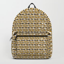 Yellow and Black Abstract Drawn Cryptic Symbols Backpack