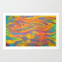 Neon Rub Art Print