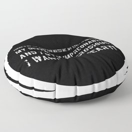 Impetuous, Impregnable, Ferocious, Heart Floor Pillow