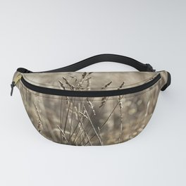 Wild meadow grass in winter Fanny Pack