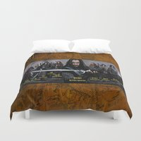 the lord of the rings Duvet Covers featuring the dwarves,hobbit,lord of the rings,thorin,#thehobbit, #lordoftherings by ira gora