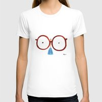 glasses T-shirts featuring Glasses by Phil McAndrew