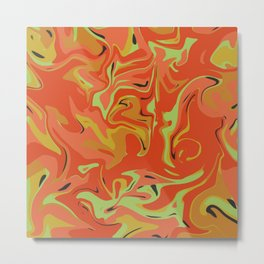 Papaya Juice Metal Print