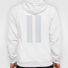 abstract vines pattern in white and a pale icy gray Hoody
