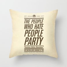 Don't Vote Now! Throw Pillow