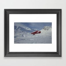 Otter Landing Ruth Glacier Framed Art Print
