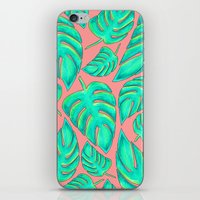palms iPhone & iPod Skins featuring Palms by Anika Kirk