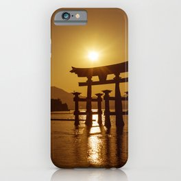 Itsukushima Shrine at Sunset iPhone Case