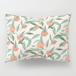 Peach and leaves Pillow Sham