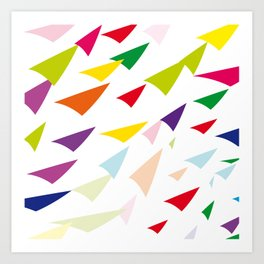 colored arrows Art Print