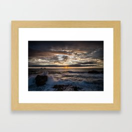 California Coast Sunset Framed Art Print
