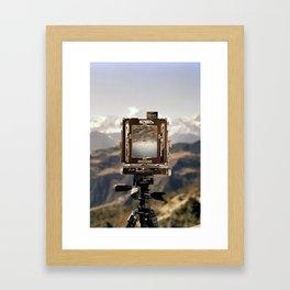 Camera Landscape Framed Art Print