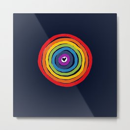 Bulls Eye  to love Metal Print