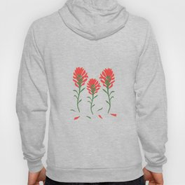 Floral-Indian Paintbrush-Gray Hoody
