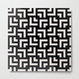 Bold geometric pattern - Stripe Tile Metal Print